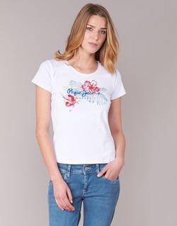 Textil Ženy Trička s krátkým rukávem Pepe jeans AMBER Bílá