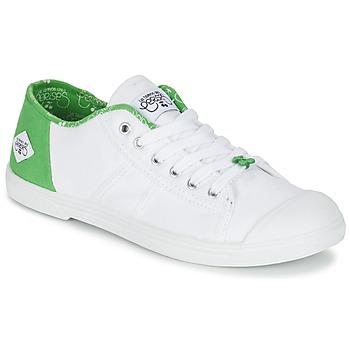 Boty Ženy Nízké tenisky Le Temps des Cerises BASIC 02 Bílá / Zelená
