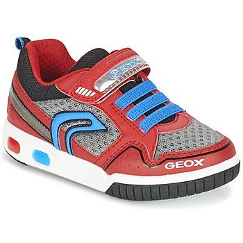 Boty Chlapecké Nízké tenisky Geox J GREGG B Červená / Modrá