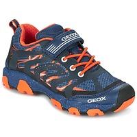 Boty Chlapecké Nízké tenisky Geox J MAGNETAR B. A Tmavě modrá / Oranžová