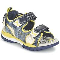 Boty Chlapecké Sportovní sandály Geox J BOREALIS B. D Tmavě modrá / Citrónová