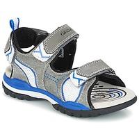 Boty Chlapecké Sportovní sandály Geox J BOREALIS B. D Šedá / Modrá