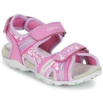Boty Dívčí Sportovní sandály Geox J S.ROXANNE A Růžová