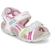 Boty Dívčí Sportovní sandály Geox J S.ROXANNE A Bílá / Růžová