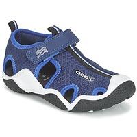 Boty Chlapecké Sportovní sandály Geox J WADER C Tmavě modrá