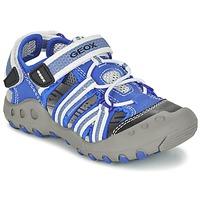 Boty Chlapecké Sportovní sandály Geox J SAND.KYLE C Modrá / Bílá
