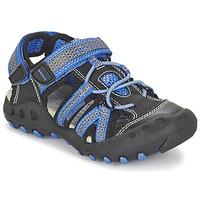 Boty Chlapecké Sportovní sandály Geox J SAND.KYLE C Černá / Modrá