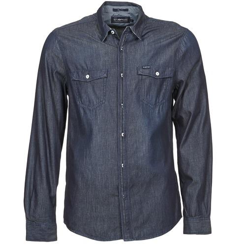 Textil Muži Košile s dlouhymi rukávy Energie VETTEL Modrá
