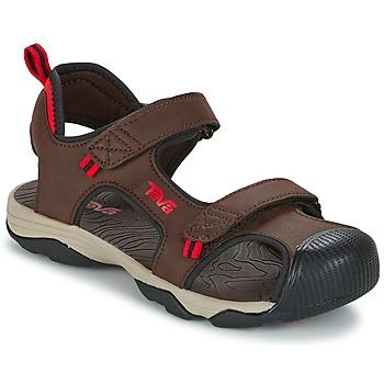Boty Chlapecké Sportovní sandály Teva TOACHI 4 Hnědá / Černá / Červená