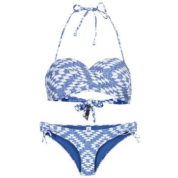 Textil Ženy Bikini Rip Curl DEL SOL BANDEAU SET Modrá / Bílá