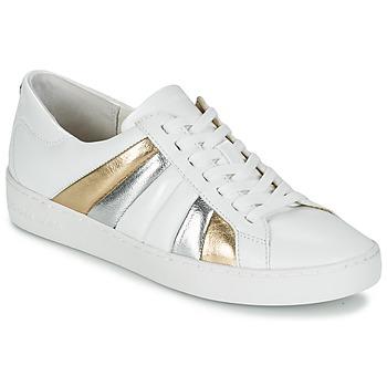 Boty Ženy Nízké tenisky MICHAEL Michael Kors CONRAD SNEAKER Bílá / Zlatá / Stříbřitá