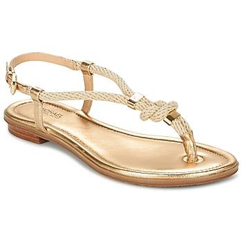 Boty Ženy Sandály MICHAEL Michael Kors HOLLY Zlatá