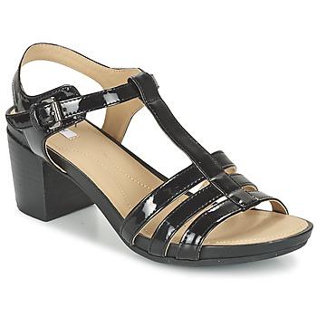 Boty Ženy Sandály Geox D SYMI C Černá