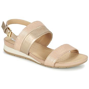 Boty Ženy Sandály Geox D FORMOSA C Růžová / Zlatá