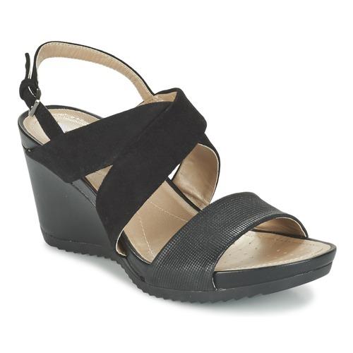 Boty Ženy Sandály Geox D NEW RORIE A Černá