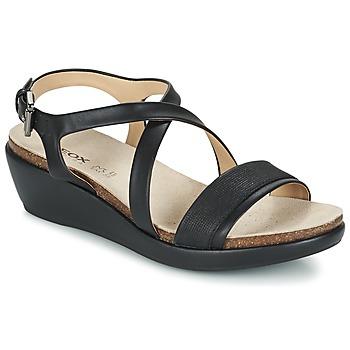 Boty Ženy Sandály Geox D ABBIE A Černá
