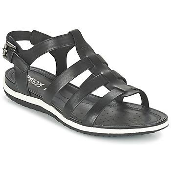 Boty Ženy Sandály Geox D SAND.VEGA A Černá