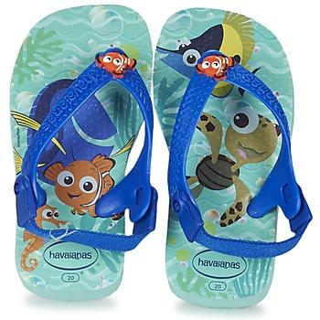 Boty Děti Žabky Havaianas BABY DISNEY CUTIES Modrá / Lesklý