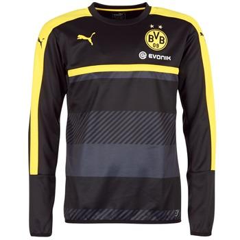 Textil Muži Mikiny Puma BVB TRAINING SWEAT Černá / Žlutá
