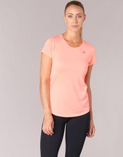 Textil Ženy Trička s krátkým rukávem New Balance ACCELERATE T Korálová