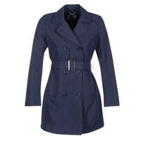 Textil Ženy Pláště Geox CREM Tmavě modrá