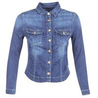 Textil Ženy Riflové bundy Le Temps des Cerises LILLYM Modrá