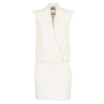 Textil Ženy Krátké šaty Le Temps des Cerises SHERY Bílá