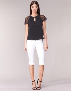 Textil Ženy Tříčtvrteční kalhoty Le Temps des Cerises NINA Bílá