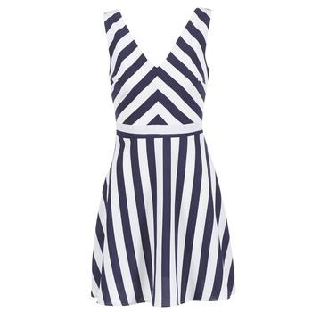Textil Ženy Krátké šaty Molly Bracken TRODAK Tmavě modrá / Bílá
