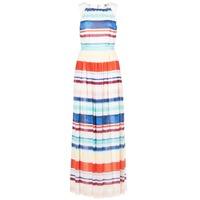 Textil Ženy Společenské šaty Tommy Hilfiger AGATON Bílá / Modrá / Oranžová
