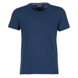 Textil Muži Trička s krátkým rukávem Tommy Hilfiger HTR END ON END Tmavě modrá