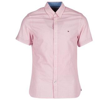 Textil Muži Košile s krátkými rukávy Tommy Hilfiger TAMBER GEO Růžová