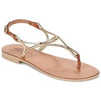 Boty Ženy Sandály Betty London GARDO Zlatá / Velbloudí hnědá
