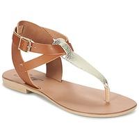 Boty Ženy Sandály Betty London VITAMO Velbloudí hnědá / Zlatá