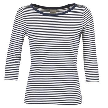 Textil Ženy Trička s dlouhými rukávy Vero Moda MARLEY Tmavě modrá / Bílá