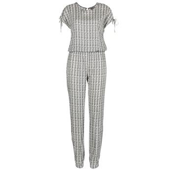 Textil Ženy Overaly / Kalhoty s laclem Vero Moda NOW Bílá / Černá