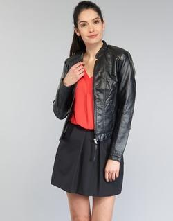 Textil Ženy Kožené bundy / imitace kůže Vero Moda QUEEN Černá