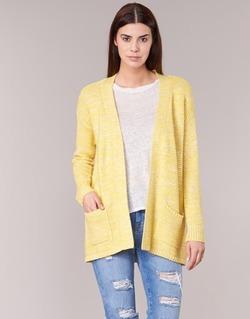 Textil Ženy Svetry / Svetry se zapínáním Vero Moda GERDA Žlutá