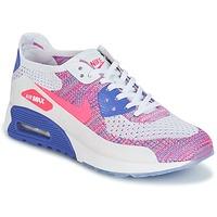 Boty Ženy Nízké tenisky Nike AIR MAX 90 FLYKNIT ULTRA 2.0 W Bílá / Modrá / Růžová