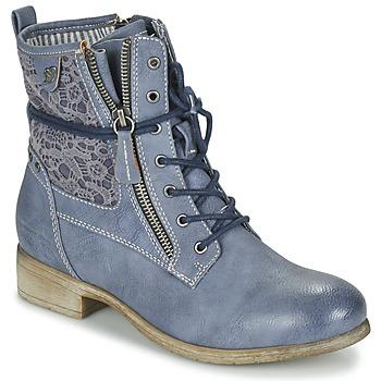 Boty Ženy Kotníkové boty Tom Tailor RELOUNI Modrá