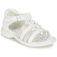 Boty Dívčí Sandály Chicco CAROTA Bílá / Stříbrná