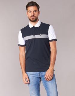 Textil Muži Polo s krátkými rukávy Emporio Armani EA7 TENNIS CLASSIC Tmavě modrá / Bílá