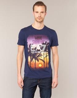 Textil Muži Trička s krátkým rukávem Emporio Armani EA7 TRAIN GRAPHIC Modrá