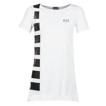 Textil Ženy Tuniky Emporio Armani EA7 TRAIN MASTER Bílá / Černá