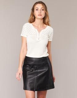 Textil Ženy Trička s krátkým rukávem Naf Naf OPARI Krémově bílá