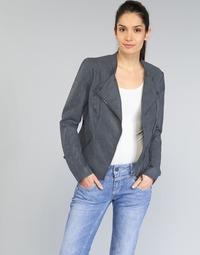Textil Ženy Kožené bundy / imitace kůže Only AVA Tmavě modrá