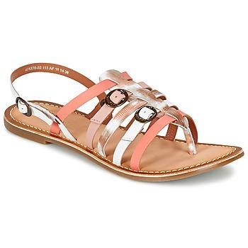 Boty Ženy Sandály Kickers DIXMILLE Stříbrná        / Růžová / Bílá