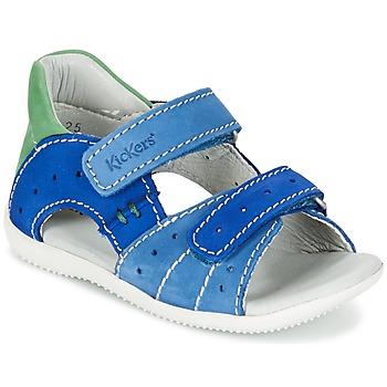 Boty Chlapecké Sandály Kickers BOPING Modrá / Zelená