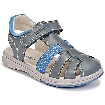 Boty Chlapecké Sandály Kickers PLATINIUM Modrá / Modrá