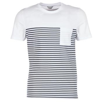 Textil Muži Trička s krátkým rukávem Jack & Jones APRIL CORE Bílá / Tmavě modrá